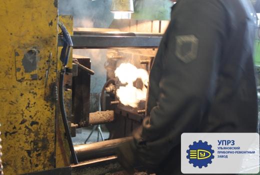 Рабочий процесс литья металла